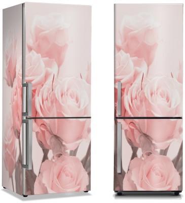 Ροζ παιώνιες Φύση Αυτοκόλλητα ψυγείου 50 x 85 εκ.