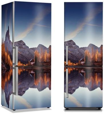 Ονειρική απεικόνιση στη λίμνη Φύση Αυτοκόλλητα ψυγείου 50 x 85 εκ.