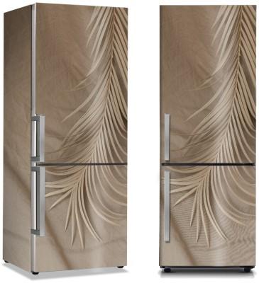 Μπεζ φύλλο φοίνικα Φύση Αυτοκόλλητα ψυγείου 50 x 85 εκ.