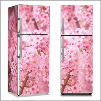 Άνθη ροζ κερασιάς Φύση Αυτοκόλλητα ψυγείου 50 x 85 εκ.