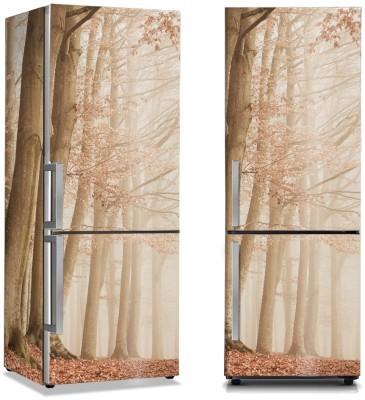Μπεζ τοπίο δέντρων Φύση Αυτοκόλλητα ψυγείου 50 x 85 εκ.
