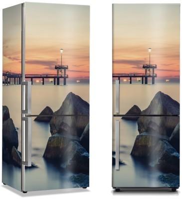 Βράχοι στη θάλασσα Φύση Αυτοκόλλητα ψυγείου 50 x 85 εκ.