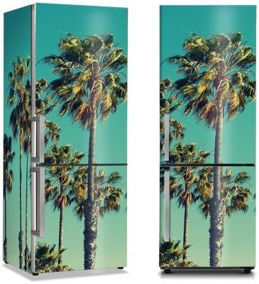 Πράσινοι φοίνικες Vintage Αυτοκόλλητα ψυγείου 50 x 85 εκ.