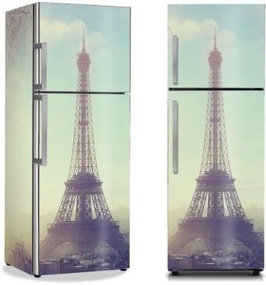 Θέα στο Παρίσι Vintage Αυτοκόλλητα ψυγείου 50 x 85 εκ.