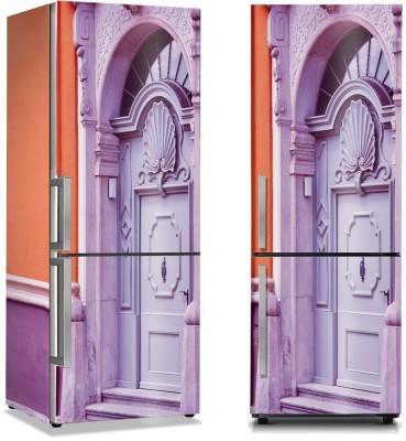 Μοβ ιδιαίτερη πόρτα Vintage Αυτοκόλλητα ψυγείου 50 x 85 εκ.