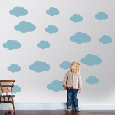 Συννεφάκια, Παιδικά, Αυτοκόλλητα τοίχου