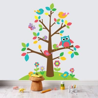 Δεντράκι με χρώματα Παιδικά Αυτοκόλλητα τοίχου 78 x 97 εκ.