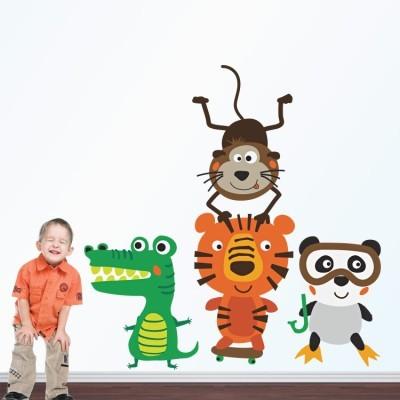 Χαρούμενα Ζωάκια, Παιδικά, Αυτοκόλλητα τοίχου