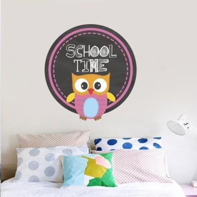 Ώρα για σχολείο Παιδικά Αυτοκόλλητα τοίχου 43 x 40 cm