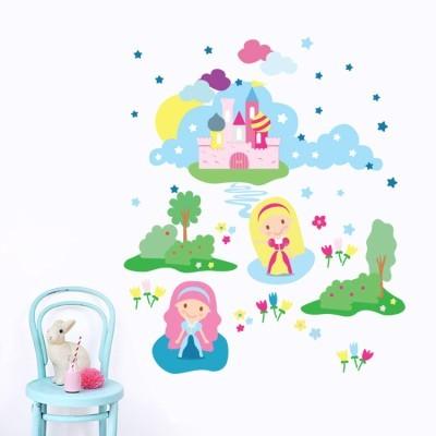 Πριγκίπισσες Παιδικά Αυτοκόλλητα τοίχου 75 x 90 εκ.