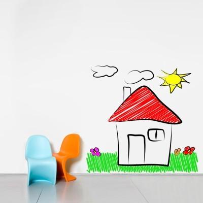 Σπιτάκι στη φύση Παιδικά Αυτοκόλλητα τοίχου 80 x 78 εκ.