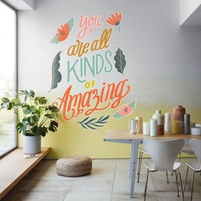 Amazing, Φράσεις, Αυτοκόλλητα τοίχου