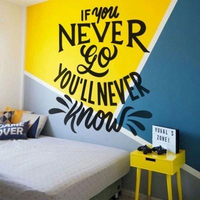You'll never Know Φράσεις Αυτοκόλλητα τοίχου 90 x 90 εκ.