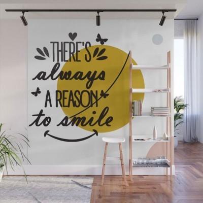 A reason to smile Φράσεις Αυτοκόλλητα τοίχου 50 x 70 εκ.