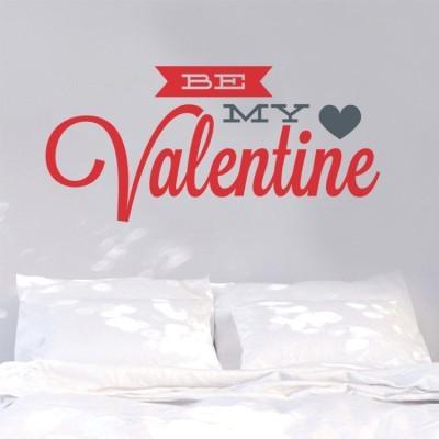 Be my Valentine, Valentines Day, Αυτοκόλλητα βιτρίνας