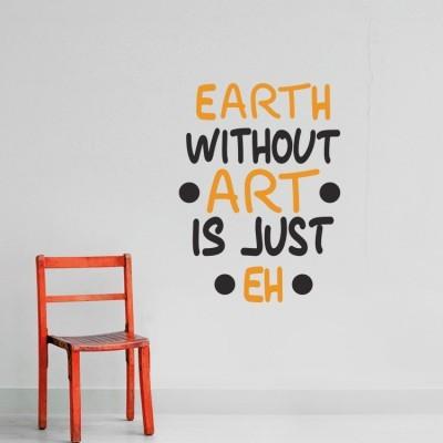 Earth... Φράσεις Αυτοκόλλητα τοίχου 45 x 166 εκ.