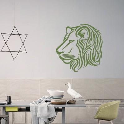 Λιοντάρι Ζώα Αυτοκόλλητα τοίχου 50 x 50 εκ.