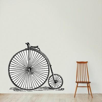 Ποδήλατο Πόλεις Αυτοκόλλητα τοίχου 117 x 101 εκ.