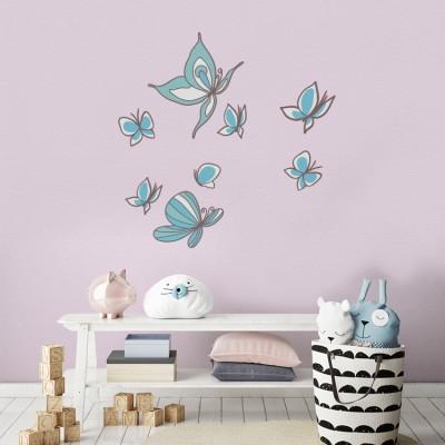 Πεταλούδες, Παιδικά, Mini Pack αυτοκόλλητα