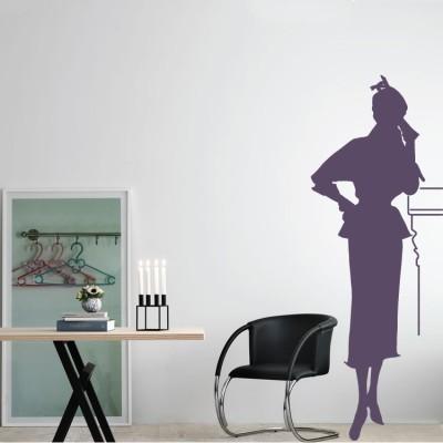 Γυναίκα Σκιά Φιγούρες Αυτοκόλλητα τοίχου 42 x 116 εκ.