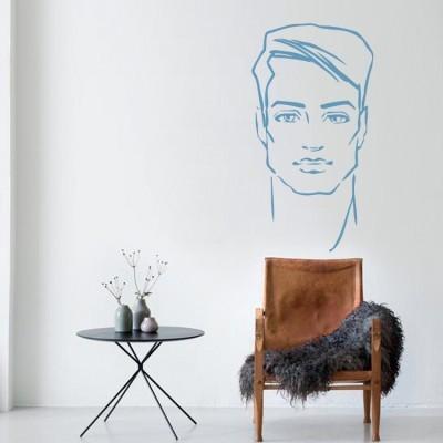 Ανδρικό πρόσωπο Φιγούρες Αυτοκόλλητα τοίχου 31 x 58 εκ.