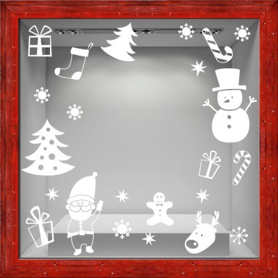 Christmas Elements, Χριστουγεννιάτικα, Αυτοκόλλητα βιτρίνας