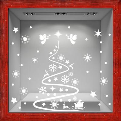Christmas Tree, Χριστουγεννιάτικα, Αυτοκόλλητα βιτρίνας