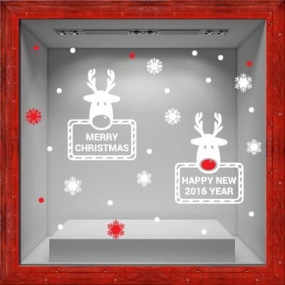 Deer Christmas, Χριστουγεννιάτικα, Αυτοκόλλητα βιτρίνας