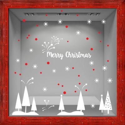 Merry Christmas, Χριστουγεννιάτικα, Αυτοκόλλητα βιτρίνας