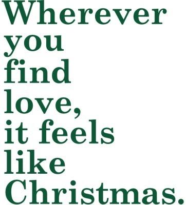 ...Feels like Christmas, Χριστουγεννιάτικα, Αυτοκόλλητα βιτρίνας
