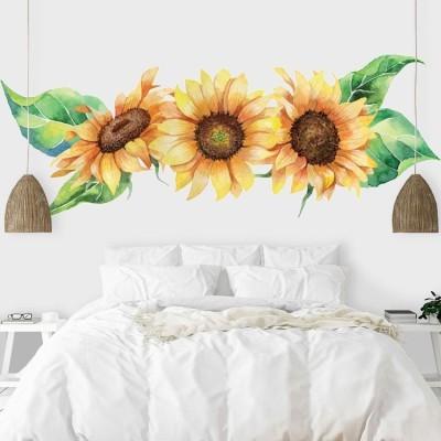 Ηλιανθοί, Δέντρα - Λουλούδια, Αυτοκόλλητα τοίχου