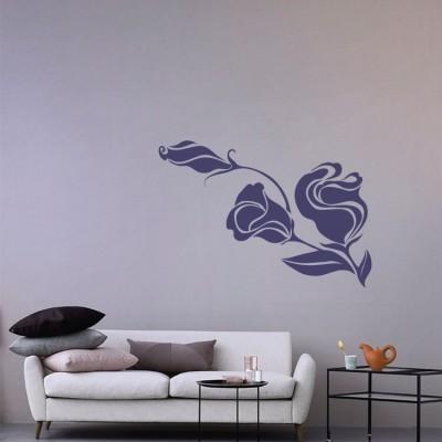 Κλειστά μπουκέτα Δέντρα - Λουλούδια Αυτοκόλλητα τοίχου 50 x 65 εκ.
