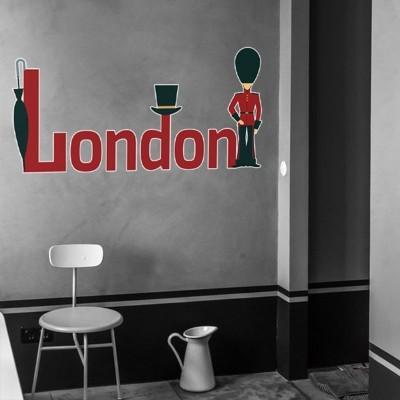Λονδίνο, φρουρός Πόλεις Αυτοκόλλητα τοίχου 100 x 50 εκ.