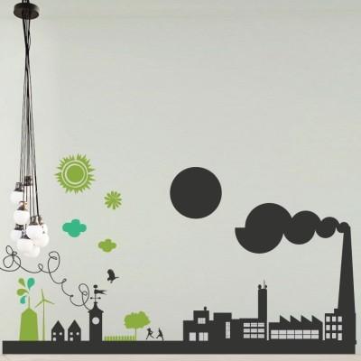 Οικολογική πόλη, Πόλεις, Αυτοκόλλητα τοίχου