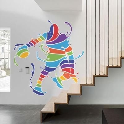 Φιγούρα μπακετμπολίστα πολύχρωμη, Σπορ, Αυτοκόλλητα τοίχου