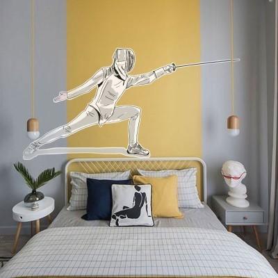 Ξιφασκία Σπορ Αυτοκόλλητα τοίχου 50 x 100 cm