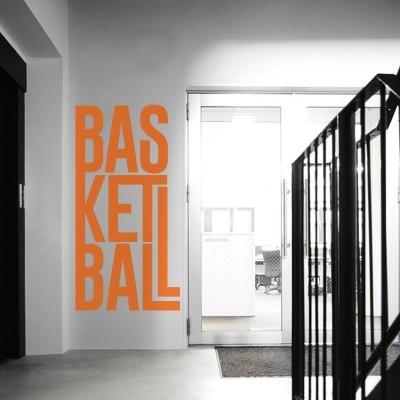 Basketball Σπορ Αυτοκόλλητα τοίχου 50 x 100 εκ.