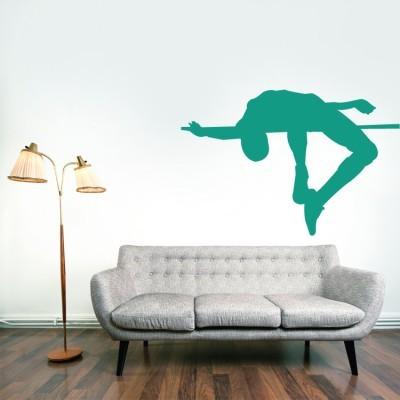 Aθλητής άλμα εις ύψος Σπορ Αυτοκόλλητα τοίχου 27 x 40 cm