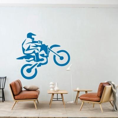 Motocross σε πίστα Σπορ Αυτοκόλλητα τοίχου 50 x 42 εκ.