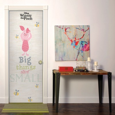Big things start small, Winnie the Pooh Disney Αυτοκόλλητα πόρτας 60 x 170 cm