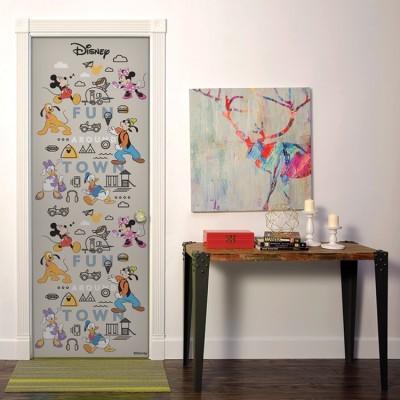 Πόλη διασκέδασης, Mickey & Friends Disney Αυτοκόλλητα πόρτας 60 x 170 cm