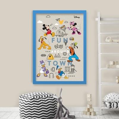 Fun arround town, Mickey Mouse! Disney Πίνακες σε καμβά 75 x 50 cm