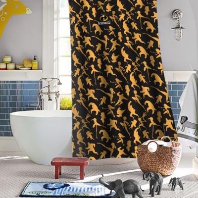 Φιγούρες των Απίθανων! Disney Κουρτίνες μπάνιου 150 x 180 cm