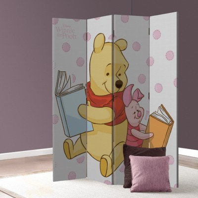 Winnie the Pooh & Pigglet! Παιδικά Παραβάν 80 x 180 εκ. [Δίφυλλο]