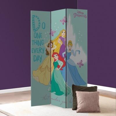 Κάνε αυτό που σε κάνει να νιώθεις χαρούμενη, Πριγκίπισσες! Παιδικά Παραβάν 80 x 180 εκ. [Δίφυλλο]