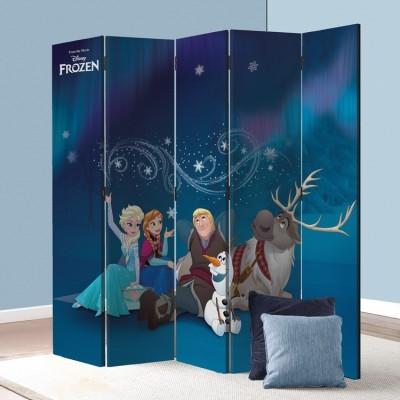 Elsa, Anna, Olaf, Kristoff, Sven, Frozen Παιδικά Παραβάν 80 x 180 εκ. [Δίφυλλο]