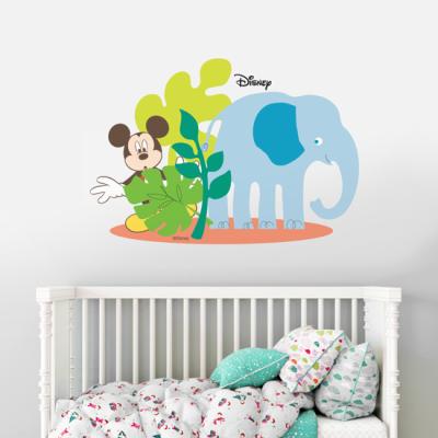 Ο Mickey Mouse με τον ελέφαντα! Disney Αυτοκόλλητα τοίχου 34 x 50 cm