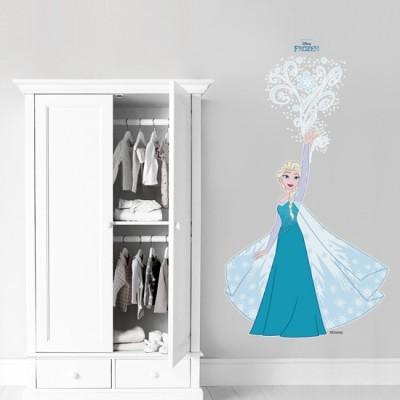 Elsa loves snow, Frozen Disney Αυτοκόλλητα τοίχου 91 x 50 cm
