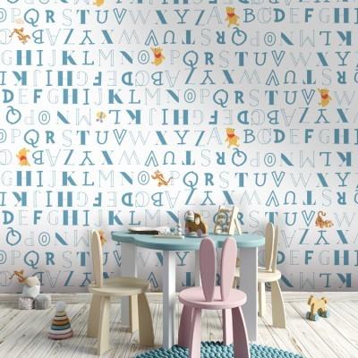 Μοτίβο με την αλφαβήτα, Winnie the Pooh Παιδικά Ταπετσαρίες Τοίχου 100 x 100 cm