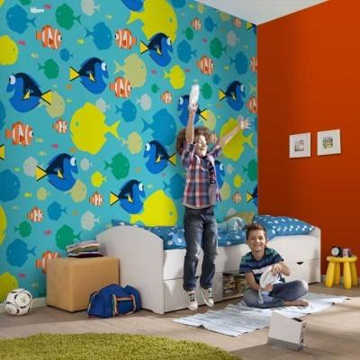 Μοτίβο με την Ντόρυ Παιδικά Ταπετσαρίες Τοίχου 100 x 100 cm